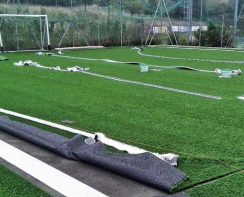 campo calcio erba sintetica ancona